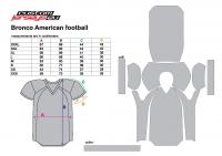 US fodbold størrelse Bronco